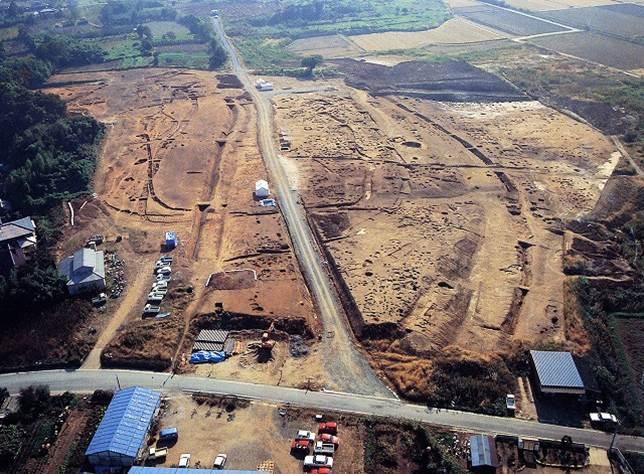 発見された当時の吉野ヶ里遺跡
