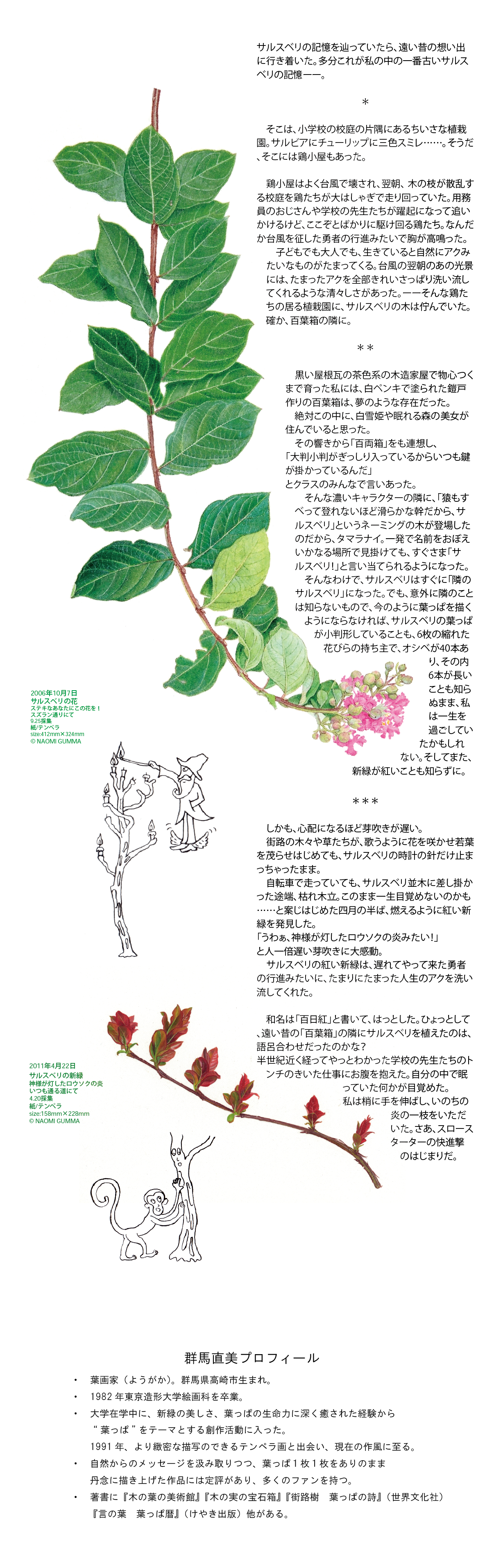 葉画家・群馬直美さんのアートコラム 第6回イメージ1