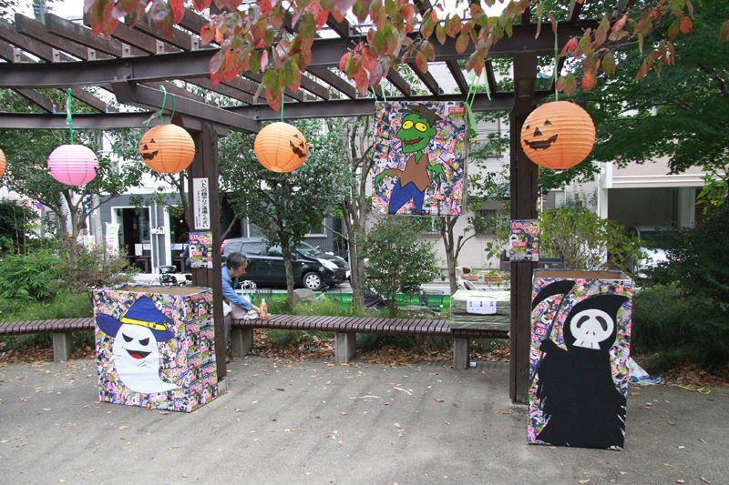 むさしの保育園の先生方が作ったハロウィン装飾