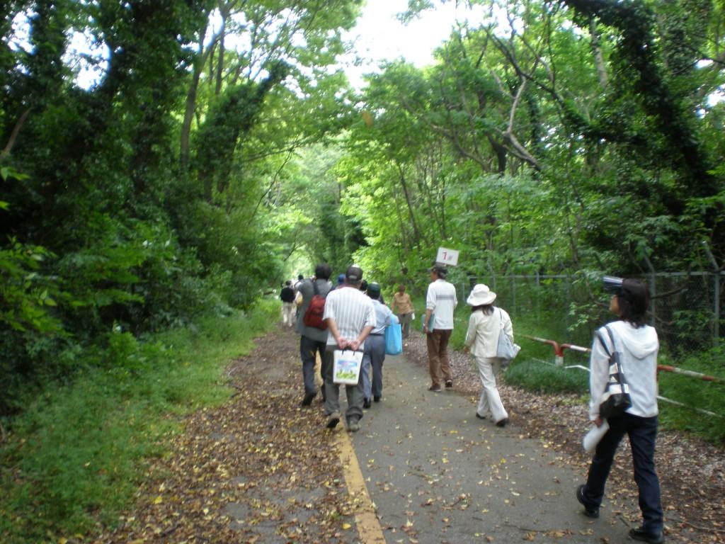 基地跡地(2008年当時)の見学会