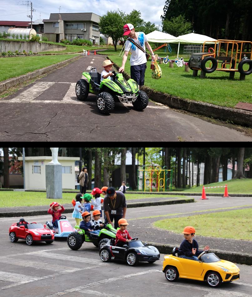 子供以上に父親も夢中になるラジコンカー。運転は小学生の低学年以下でも運転できる
