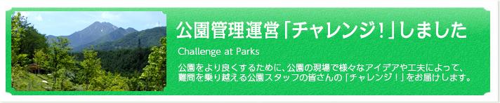 公園管理運営チャレンジしました
