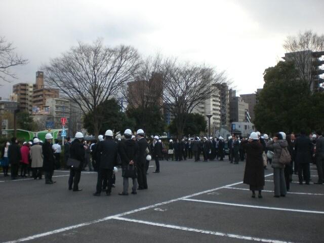 東日本大震災直後の木場公園