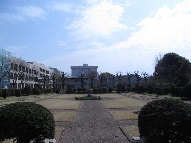 現在の千葉大学園芸学部フランス式庭園<br>(2016年3月)