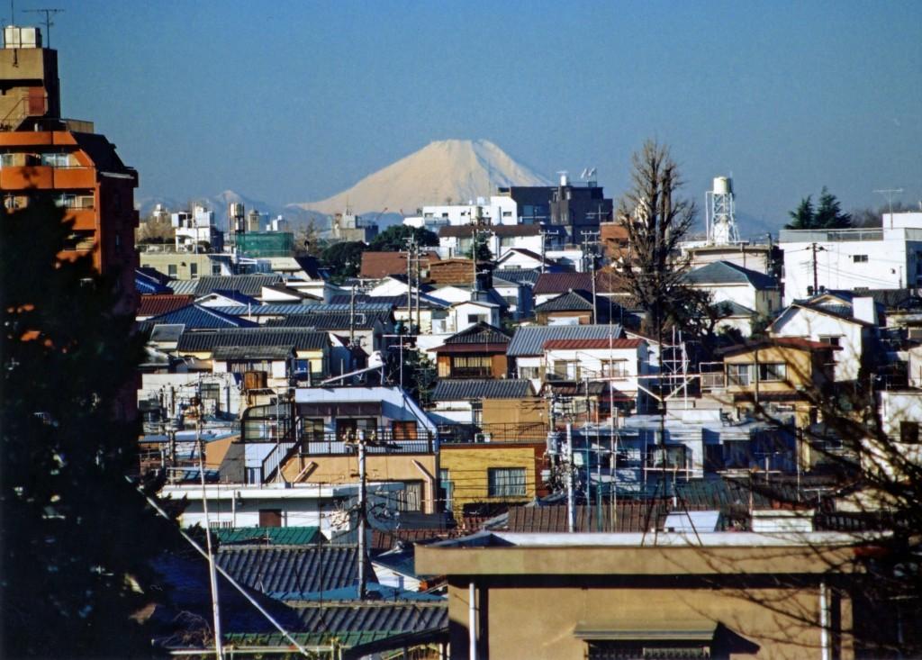 富士見坂からの眺望(1990年)石川正氏撮影
