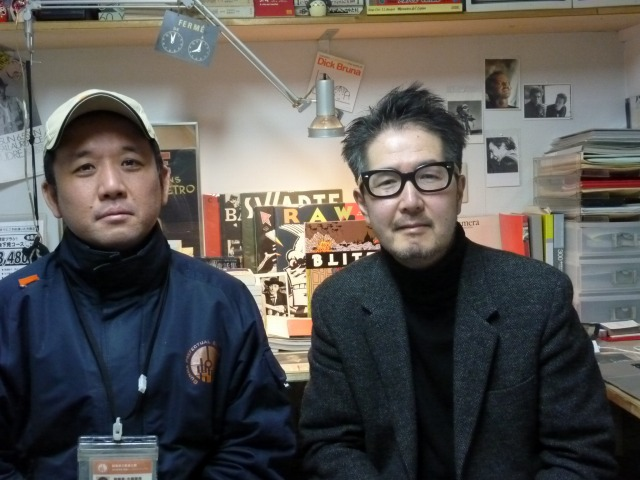 敷島PMJV、県立敷島公園副園長の岡田達郎さんとフリッツ・アートセンター代表の小見純一さん