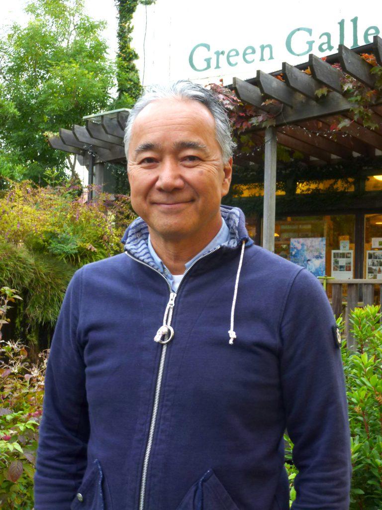 由栗交流会会長の吉田俊一さん