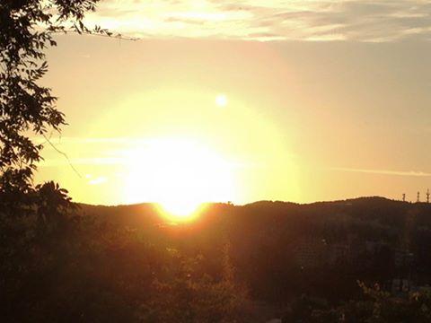 西公園から眺める夕日
