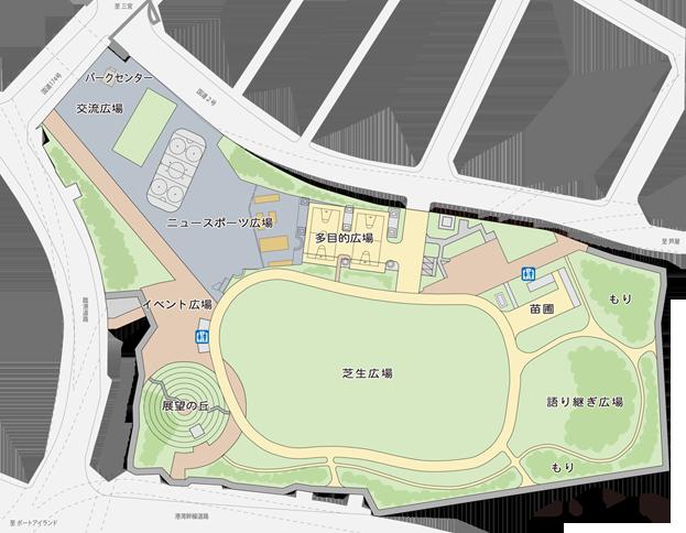 公園の平面図