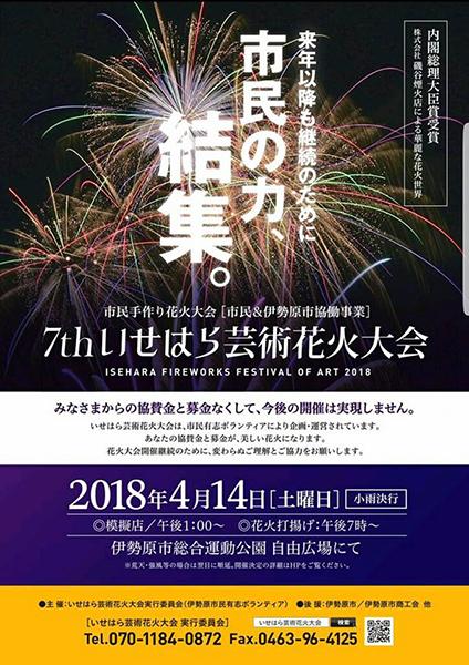 2018年のポスター。チラシとポスターは毎回10月頃から作成を開始する