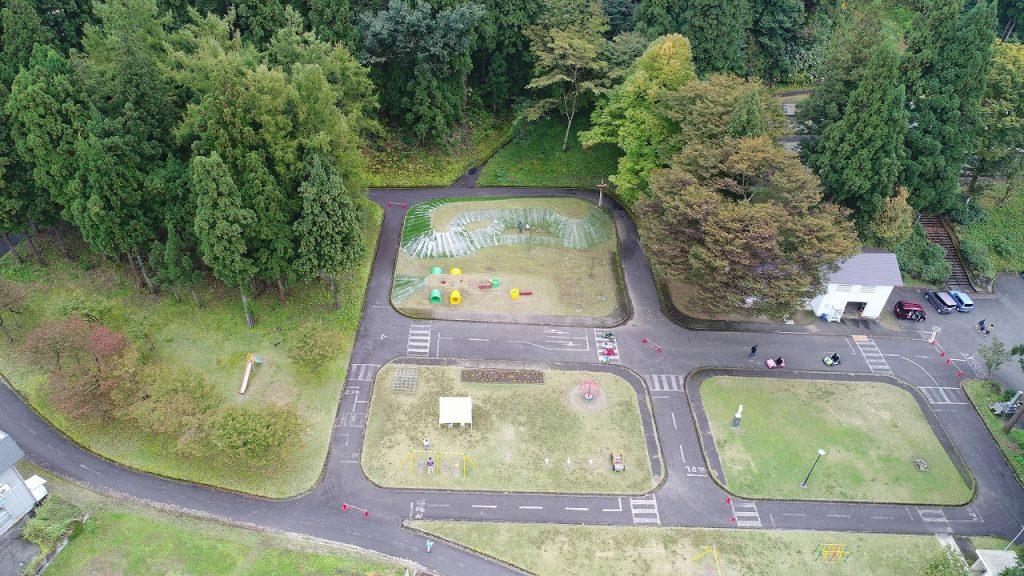 ドローンで撮影した桂公園