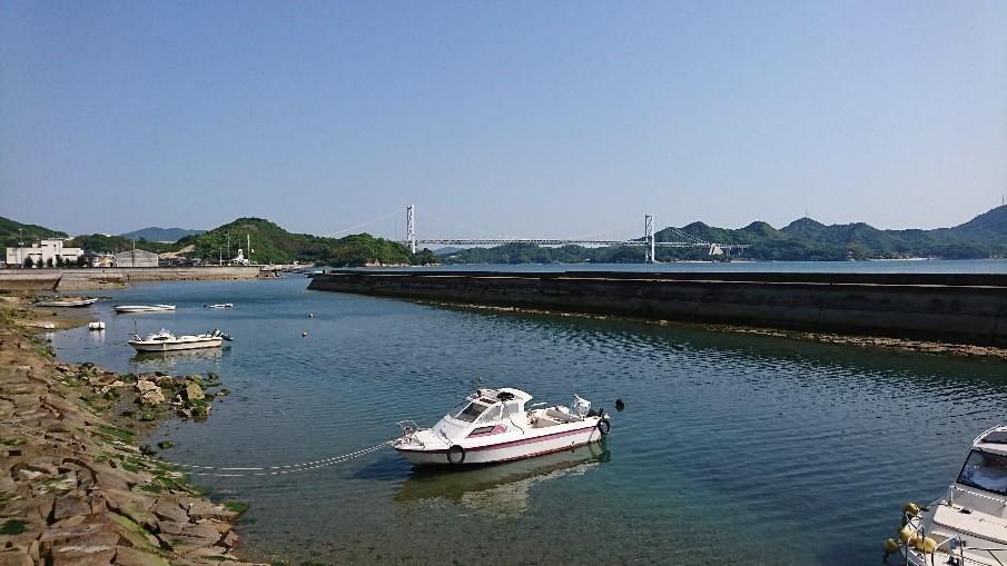 写真1 因島大浜港より因島大橋方面を望む