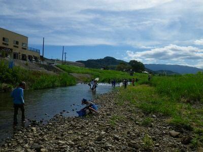 遠賀川での観察会