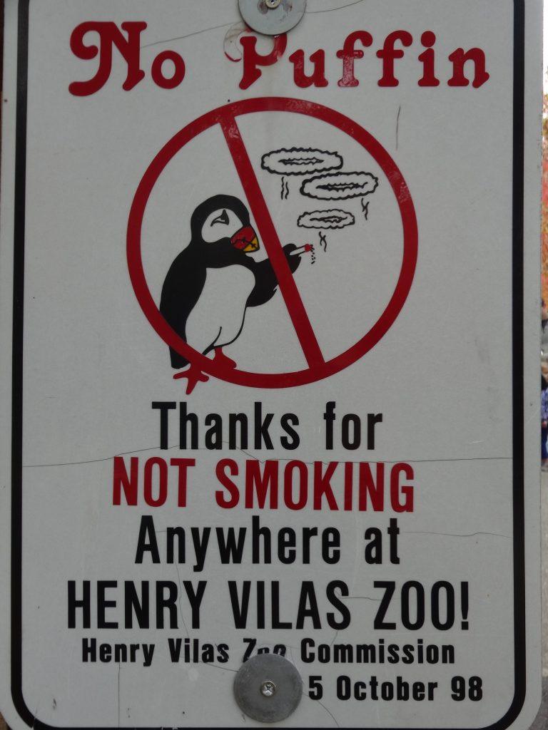 (写真9)タバコを吸うパフィン(ツノメドリ)