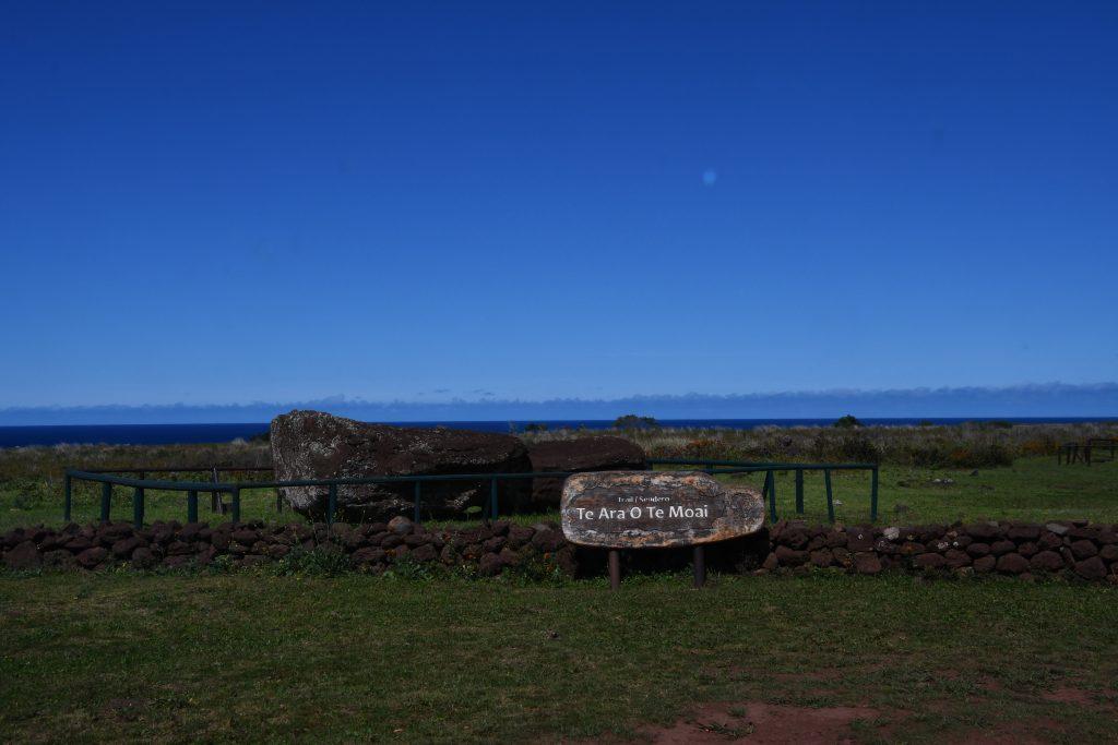 (写真14) イースター島の周囲の環境にふさわしい素材と色