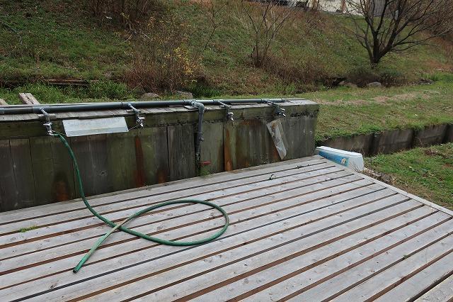 池干し後に重宝する屋外の水道