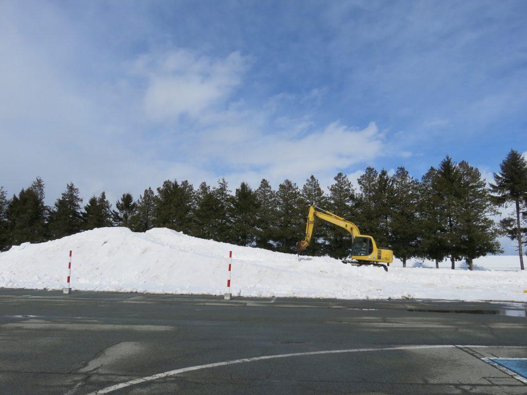 5名で約1週間かけて作成。<br/>用いた雪はおよそ800トン