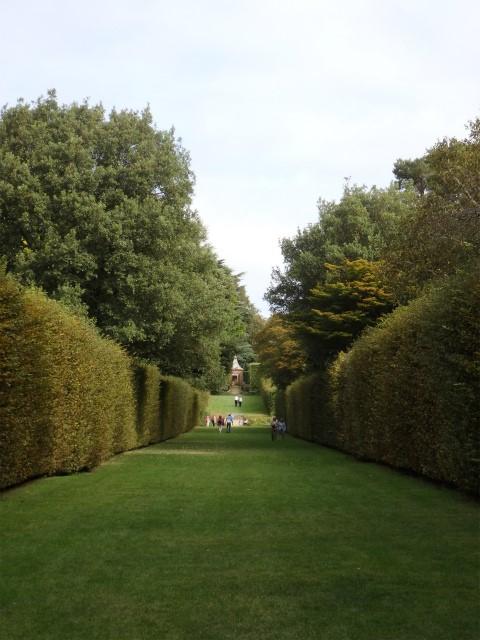 樹形を維持するために、生垣やトピアリーは約6ヶ月間、<br>2,400時間を費やして管理している