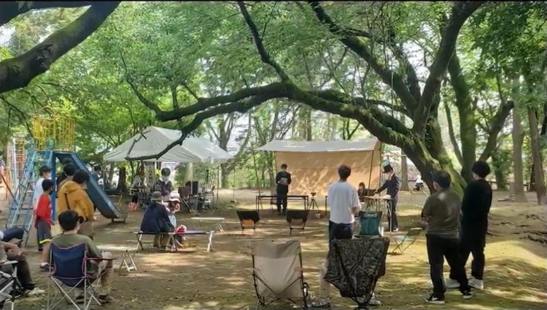 第3会場の城山公園は木陰が多く、<br/>初心者が過ごしやすい会場となった